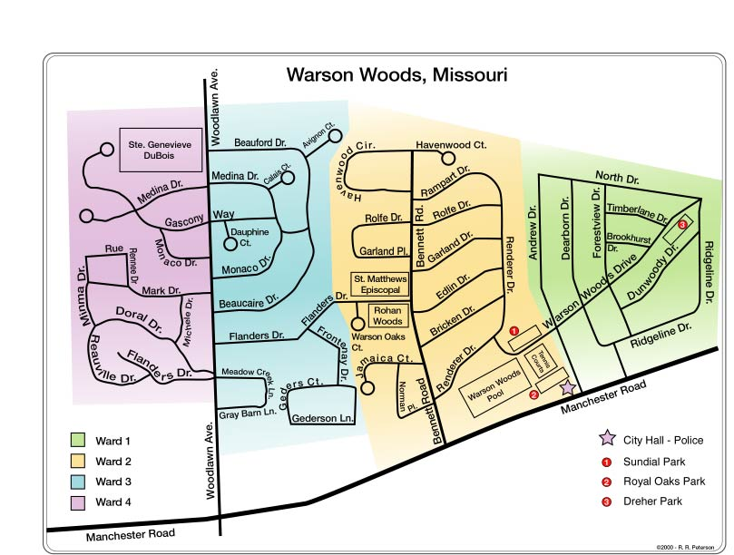Warson Woods Ward Map